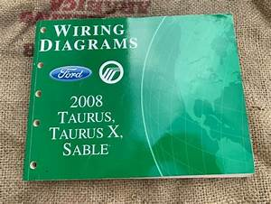Oem Ford Wiring Diagrams 2008 Taurus    X Mercury Sable