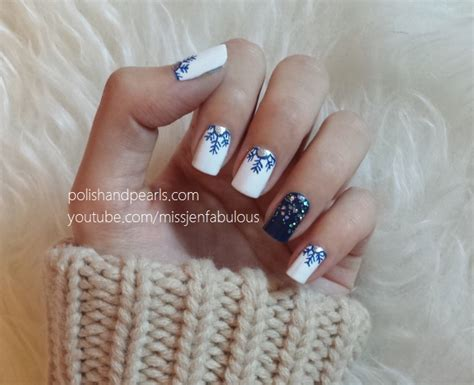 Snowflake Nails   Polish and Pearls ? Plus Size Clothing