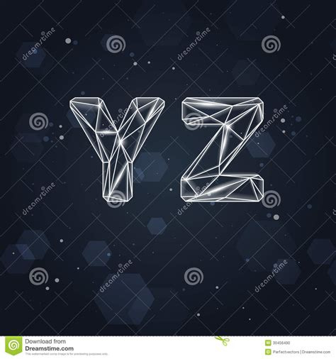constellation geometric font   stock photo image