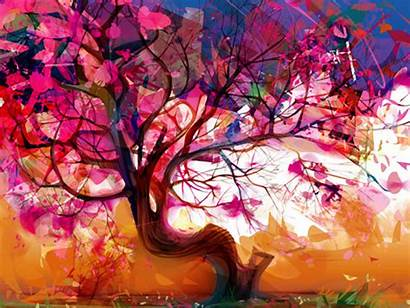 Abstract Wallpapers Artistic Tree Nature Painting Phone