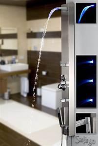 Duschpaneel Mit Massagedüsen : edelstahl duschpaneel von sanlingo duschs ule mit wassefall massaged sen und led duschpaneele ~ Eleganceandgraceweddings.com Haus und Dekorationen
