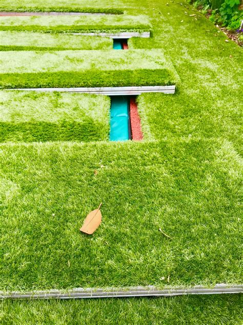 sunken trampoline  walk  aluminum lid cover artificial grass  covers garden london
