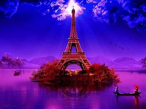 Image for Purple Eiffel Tower Wallpaper | Places to See ...