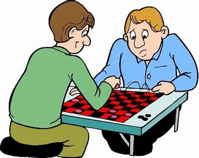 Clip Games Clipart Board Checkers Table Cliparts