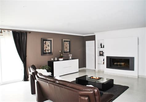 cuisine couleur aubergine idee deco salon marron accueil design et mobilier