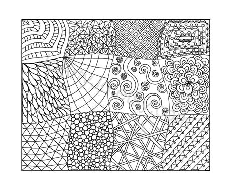 Zendoodle Coloring Page, Printable Pdf, Zentangle Inspired