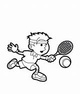 Tennis Coloring Pages Sports Drawing Player Printable Play Sport Colouring Racket Drawings Sheets Sketch Getdrawings Bulletin Easy Court Results Uteer sketch template