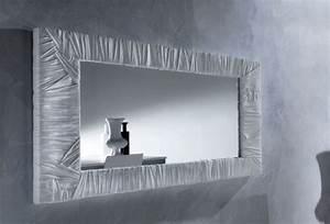 Miroir De Salon : miroir mural design fairfax trois couleurs au choix ~ Teatrodelosmanantiales.com Idées de Décoration