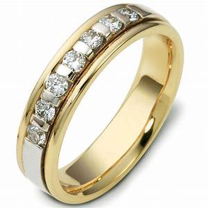 47243e 18kt two tone diamond wedding ring for Two tone wedding ring