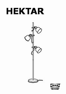 hektar floor lamp with 3 spotlights white ikea canada With wiring a floor lamp