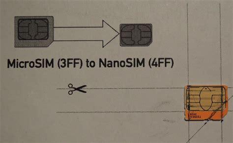convert  micro sim card  fit  nano slot