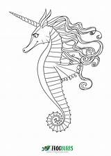 Seahorse Coloring Colouring Outline Sea Printable Mandala Want Don Seahorses Under Cartoon Pdf Getdrawings Drawing sketch template