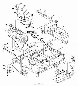 Bunton  Bobcat  Ryan 942233a  61 Side Discharge Parts Diagram For Fuel Tanks