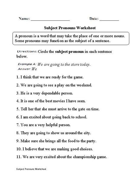 subject pronouns worksheet part 1 teacherlinx board pinterest