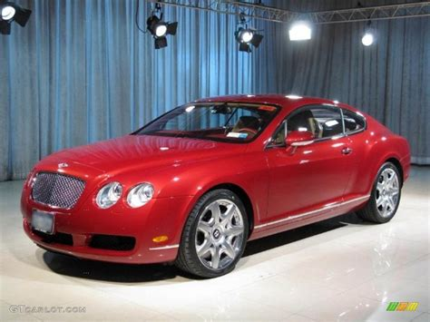 red bentley 2005 umbrian red bentley continental gt mulliner 12066510