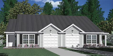 ranch floor plans with split bedrooms houseplans biz house plan d1196 b duplex 1196 b