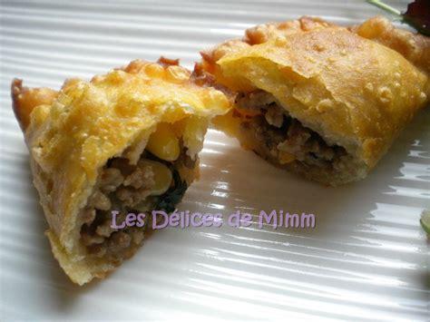recette cuisine libanaise mezze samboussik à la viande à la libanaise rissoles à la