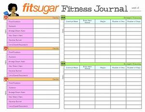 9 best images of free printable exercise journal With food and exercise journal template