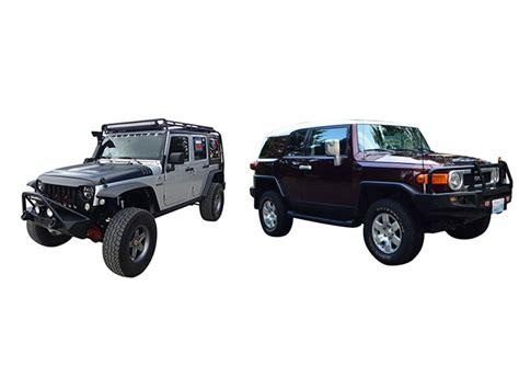 Jeep Vs Fj Cruiser by Jeep Rubicon Vs Toyota Fj Cruiser How To Choose The