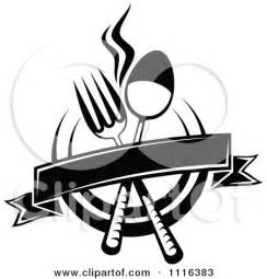 Restaurant Clip Art Black and White
