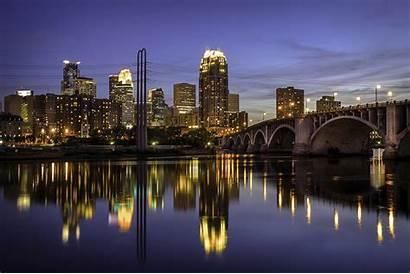 Usa Street Minneapolis Night Paul Cities Rivers