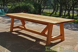 Plan Table Bois Exterieur : ana white 10 foot long provence table with 4x4 39 s diy projects ~ Melissatoandfro.com Idées de Décoration
