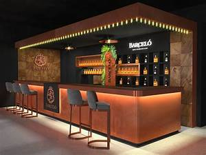 Classic, Style, Wine, Cabinet, Bar, Counter, With, Led, Lights, 3d, Design