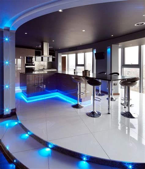 Modern Home Bar by Using Led Lighting In Interior Home Designs Bar Model