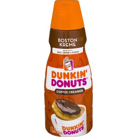 Get going with a cup of coffee just the way like it! Dunkin Donuts Coffee Creamer, Boston Kreme | Buehler's