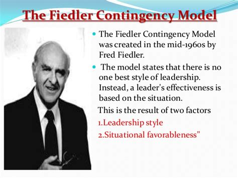 fiedlers contingency model