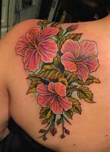 80 Splendid Flower Shoulder Tattoos