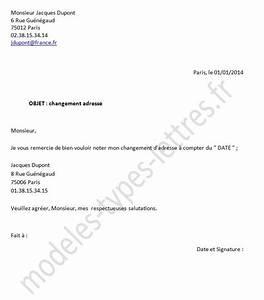 Modèle Changement D Adresse : modele lettre impots changement d 39 adresse ~ Gottalentnigeria.com Avis de Voitures
