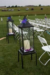 Entrance, Of, Wedding, Area, Large, Black, Lanterns, With, Led, Lights, Ribbon, And, Rose, Petals
