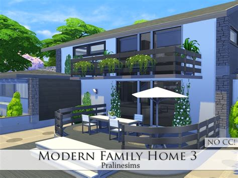 pralinesims modern family home