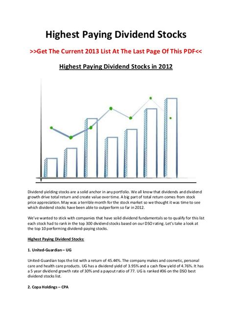 the best dividend stocks highest paying dividend stocks