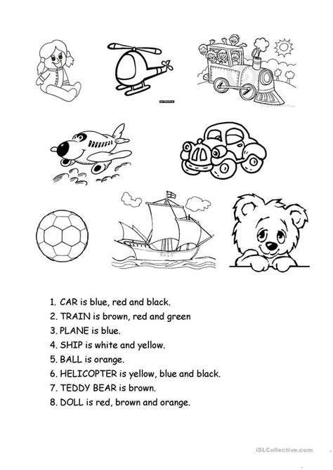 toys worksheet  esl printable worksheets