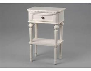 Table De Chevet Hauteur 70 Cm : table chambre chevet blanc de la marque amadeus ~ Teatrodelosmanantiales.com Idées de Décoration