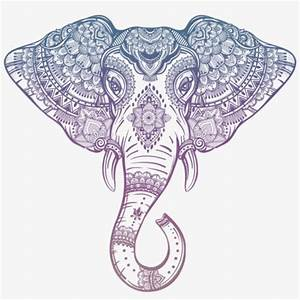 Free Png Download Tribal Elephant Head Outline Png ...