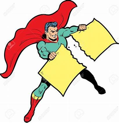 Paper Clipart Superhero Clip Ripping Vector Torn