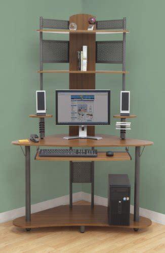 small corner computer desk tower hutch wood storage