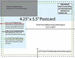 425x55 postcardjpg best professional templates With usps postcard guidelines template