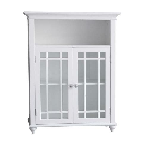 neal floor cabinet  double glass doors  bathroom