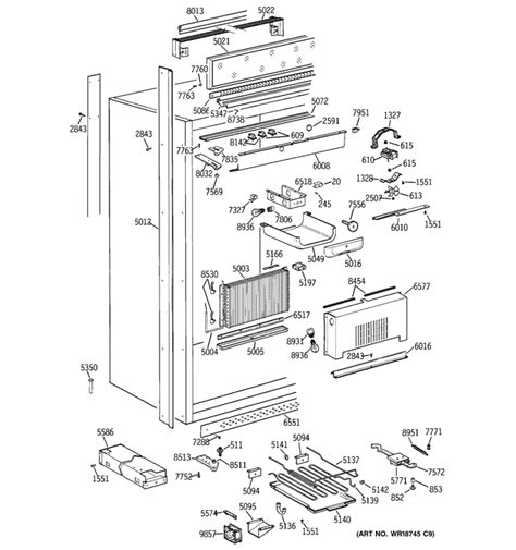 ge monogram refrigerator   freezer model  zirnhrh  evaporator turned
