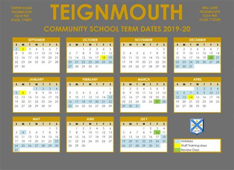term datescalendar teignmouth primary