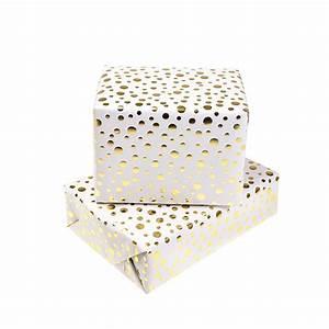 Papier Cadeau Blanc : papier cadeau blanc et or emballage ~ Teatrodelosmanantiales.com Idées de Décoration