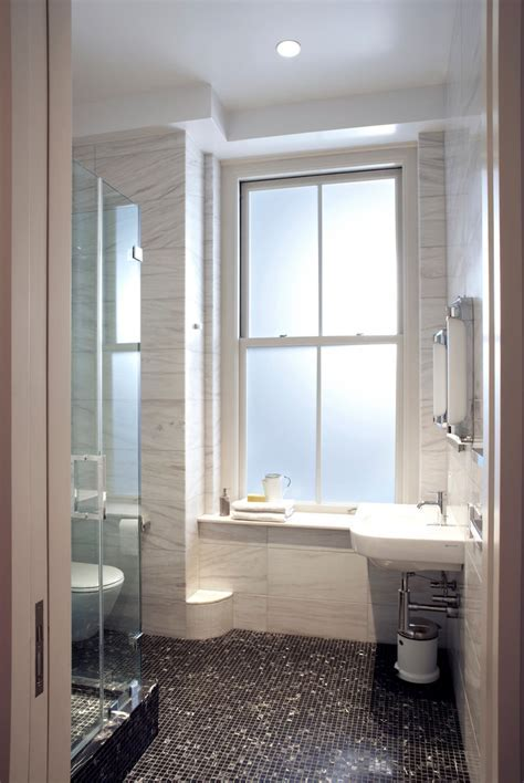 frosted bathroom windows Bathroom Contemporary with