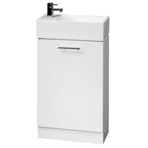 compact bathroom sink unit trueshopping 480mm wide white gloss bathroom vanity unit
