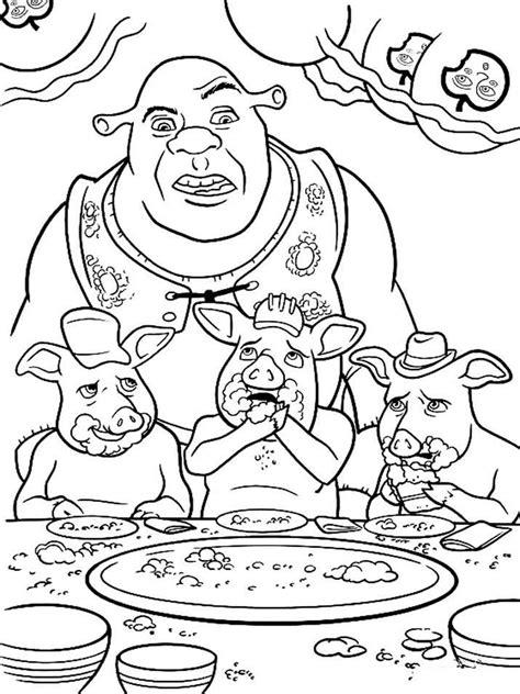 De Gelaarsde Kleurplaat by Shrek Coloring Pages And Print Shrek Coloring Pages