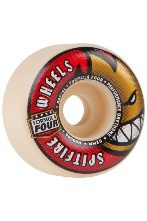 formula 4 spitfire spitfire formula four radials 52mm wheels white red 4