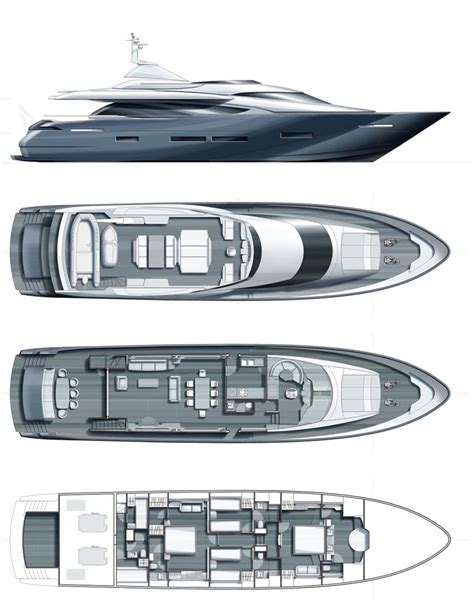 Yacht Plans by Bibich Layout Plans Luxury Yacht Browser By